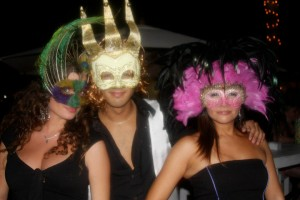 masquerade party at moskito javea