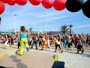 zumba on the arenal beach javea