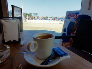 beach coffee javea