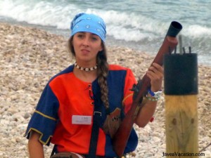 christian girls with guns - moors and christians